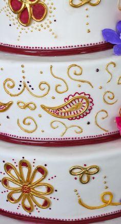 Maroon and gold wedding cake!    #WeAreBC