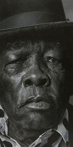John Lee Hooker    yes, a PAINTING by art genius Sebastian Kruger