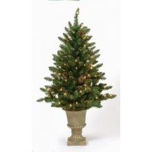 3' Pre-Lit Indoor/Outdoor Freemont Christmas Potted Topiary Tree with
