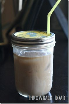"Turn some of your mason jars into ""adult"" sippy cups. No spills and no bugs.......D."