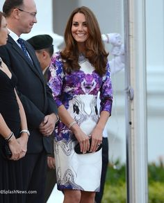 The Duke and Duchess of Cambridge attend a State dinner- Kate in Prabal Gurung