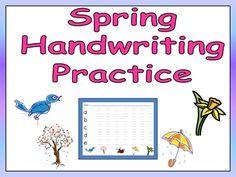FREE Spring handwriting practice!!!