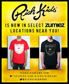 Rich Kids Brand now available at select ZUMIEZ