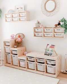 PLAYROOM GOALS. With some good storage tubs and labels your playroom will always be organised and working efficiently. Rather than messy…