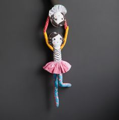 DIY trapeze doll from the book PLAYFUL: Fun Projects to Make With + For Kids