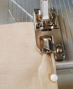 3. Position the trimmed hem