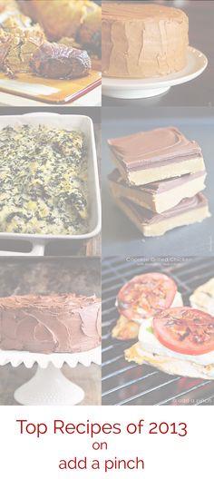 Top 10 Recipes of 2013 from http://addapinch.com #dayrecipes.com #recipe #Top_Recipes #Recipes_Ideas #Paleo_Diet_Recipe #detox_recipes #BestRecipes