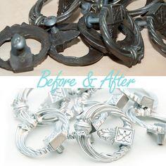 Before&After how to paint hardware