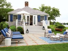 beach cottages, decks, dream, blue, outdoor patio