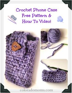 Free Crochet Phone Case Pattern (with How To Crochet Video!) case free, crochet phone, free pattern, patterns, free crochet, phone cases, crochet videos, case pattern, crafts