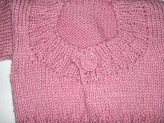 Knitting Galore: Modern Miss Baby Cardigan