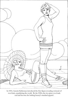 Fashions of the Roaring Twenties Coloring Book twenties printables, twenti fashion, twenti galor, color book, coloring books, roar twenti