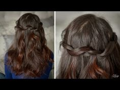 Twisted Waterfall Hairstyle. Even I could do this one!