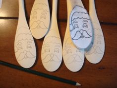 Paint a wooden spoon for christmas