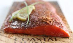 Salmon on a cedar plank. omg yum!!!