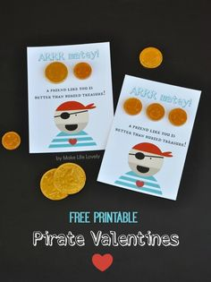 Free Printable Pirate Valentines - Make Life Lovely