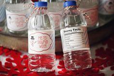 melt snowmen, holiday parties, snowman water, winter holidays, water bottle labels, melt snowman, christma, bottl label, water bottles