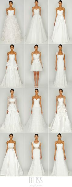 Wedding dress shapes (Will come in handy one day ;))
