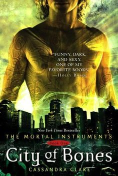 The Mortal Instruments Book One: City of Bones by Cassandra Clare. Love this series. Can not wait to see if the movie is as good as the books.