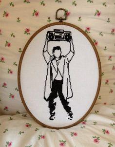 Cross Stitch Pattern - Lloyd Dobler, Say Anything.. £3.00, via Etsy.