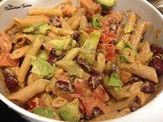 Creamy Guiltless Avocado & Tomato Rigatoni | Rich Comfort Food | Only 257 Calories! 17 G Protein | For MORE RECIPES please SIGN UP for our FREE NEWSLETTER www.NutritionTwins.com