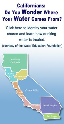California Map: Where your water comes from