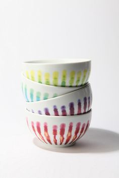streak-dye bowl by Urban Outfitters in 4 colors for $12
