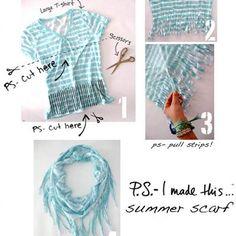 Summer Scarf DIY {Scarves}