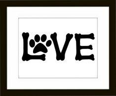 Dog Paw Art Print