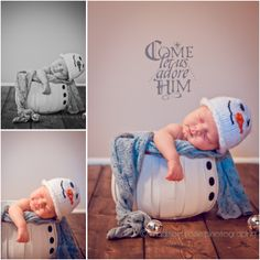 #NewbornPhotography #Newborn #Posing #Winter #Snowman #Christmas #Cute #HamOnt #Photographer #MadisonRosePhotography