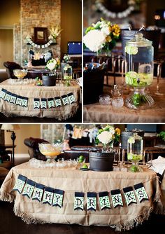 Green, White, and Black Baby Shower