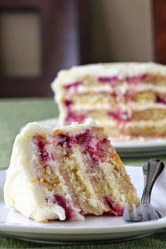 secret recipe club: meyer lemon iced raspberry yogurt cake