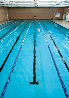 Employees at VCU Health System take advantage of an on-site swimming pool, which has four lanes for lap swimming as well as informal recreational #swimming. #exercise, #getfit