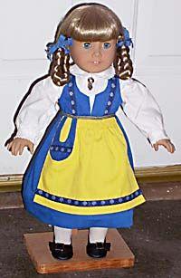 handmade Swedish national costume