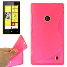 Capa Lumia 520 - Gel Sline Fucsia  R$14,61