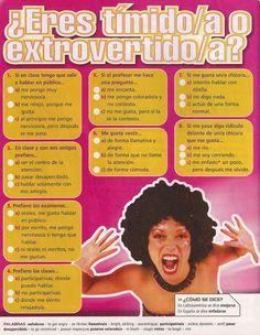 ¿Cómo eres? ¿Más bien tímid@ o extrovertid@? 1/2