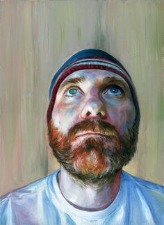 """Robert Carter; """"Self Portrait with Beard"""""""