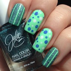 polka dots, nailart, nail designs, nail arts, sweet nails