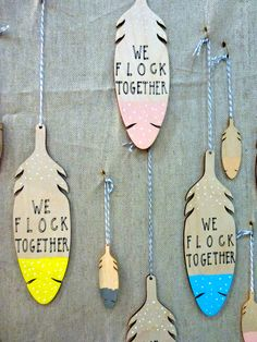 Wooden Feathers from The Great Lakes - Available here: http://thegreatlakesgoods.com/_shop.html