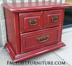 distressed reveal furniture hom makeovers peppers red black glaze