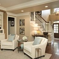 sitting room at bottom of stairs