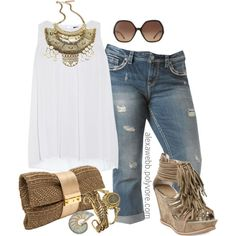 "#plus #size #outfit #boho ""Plus Size - Boho Glam"" by alexawebb on Polyvore"