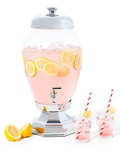 """Great for a welcome bar.  Some of you have to get in on this: Godinger """"Aristrocrat"""" 3 Gallon Beverage Dispenser"""