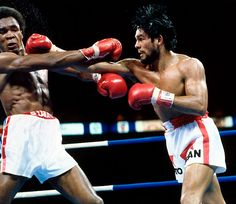 Sugar Ray Leonard and Roberto Duran