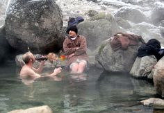 Naturally occurring hot springs are located all over Montana.