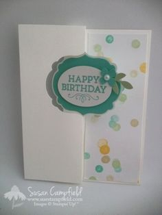 Birthday Flip card with Label Card Thinlit and Lullaby2-imp