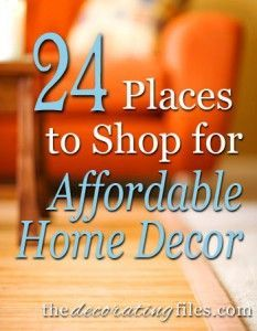 Affordable Home Decor: 24 Places to Shop