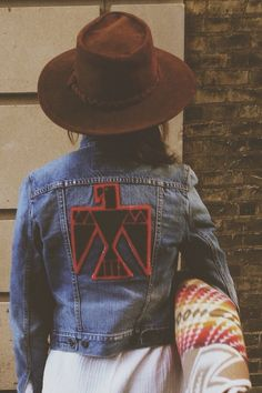 jean jacket with patch