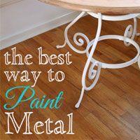 Painting metal furniture