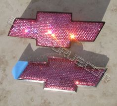 Your Color Crystal Bling CHEVY Bow Tie GRILL EMBLEM